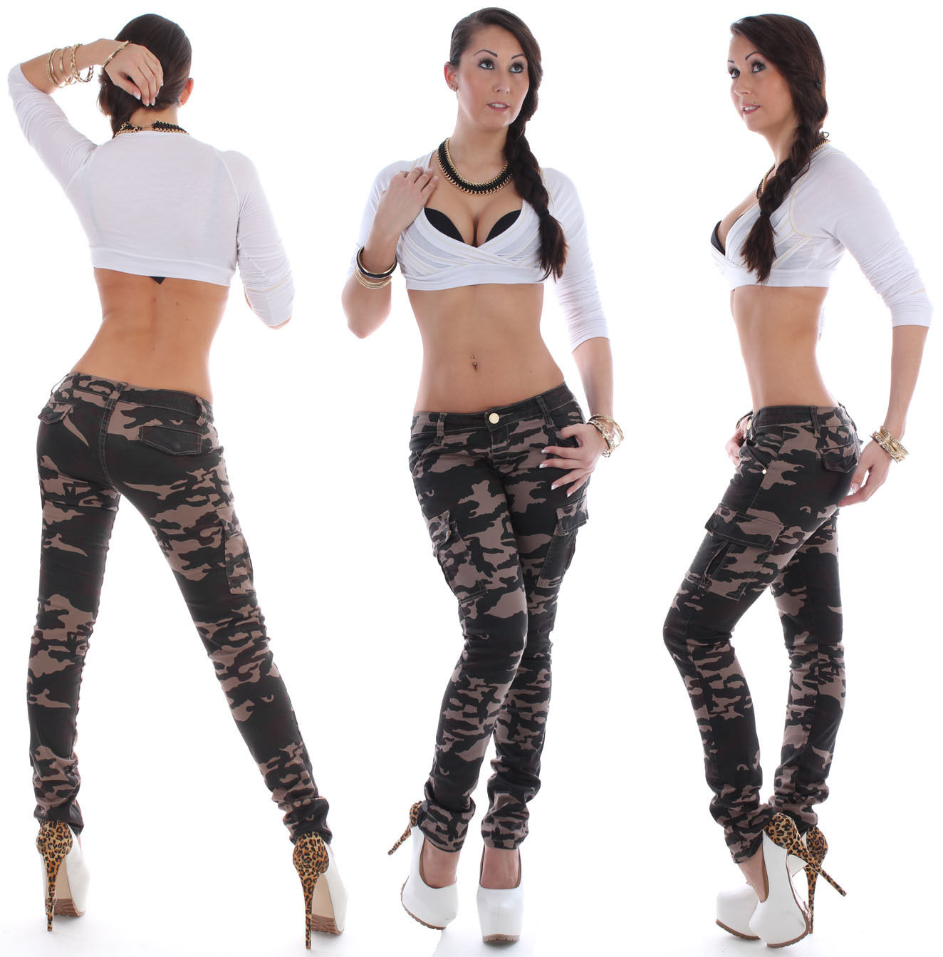 Jeans For Women Jeans For Women Trousers Cargo Pants Camouflage